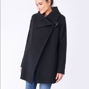 Seraphine Black Maternity Wool Coat